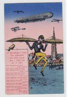 Zeppelin Farbige Kitschkarte Ungebraucht - Germany