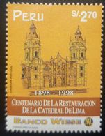O) 1998 PERU, ARCHITECTURE. RESTORATION OF THE CATHEDRAL OF LIMA, SC 1186, BANCO WIESE, MNH - Pérou