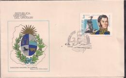 Uruguay - 1978 - FDC - Heroes Americanos - Gral. Jose De San Martin - Cygnus - Uruguay