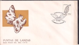 Uruguay - 1976 - FDC - Culture Aborigène De L'Uruguay - Fers De Lance - Cygnus - Arqueología