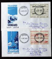 Greenland 1976  Postal Services  Cz.Slania  MiNr.98 -99  FDC ( Lot Ks) - FDC