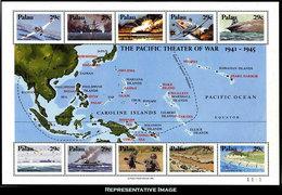Scott 299   29c, 29c, 29c, 29c, 29c, 29c, 29c, 29c, 29c And 29c WWII In The Pacific Se-tenant Sheet Of Ten. Mint N... - Palau
