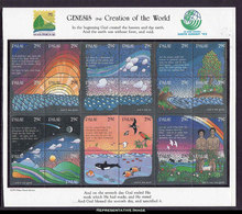 Scott 303   29c Genesis-Biblical Creation Of The World Earth Summit '92 Se-tenant Sheet Of Twenty-four. Mint Never... - Palau