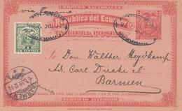 Ecuador: 1899: Post Card To Barmen/Germany - Ecuador
