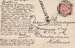 Ned. Indie 1911 Post Card Soerabaja To Amsterdam - Indonesia
