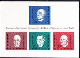BRD FGR RFA - Adenauer (MiNr: Bl. 4) 1968 - Postfrisch MNH - Blocchi