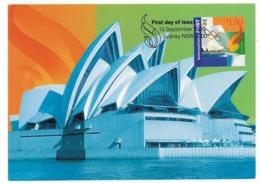 MAX 24 - 414 OLYMPICS OPENING DAY - Maximum Card - 2000 - Estate 2000: Sydney
