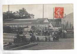 Carte-photo Non Localisée, D' Une Usine Métallurgique Adressée à Gray ( 70 ) - Mêmes Personnages Que La Suivante - Cartoline