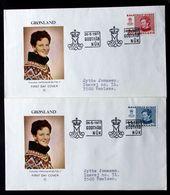 Greenland 1977 Cz.Slania.  Queen Margarethe II.MiNr.101-02  FDC ( Lot Ks) - FDC