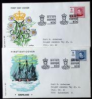 Greenland 1977 Cz.Slania.  Queen Margarethe II.MiNr.101-02  FDC ( Lot Ks)FOGHS COVER - FDC