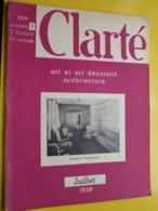 """CLARTE Art Et Art Décoratif Architecture """" CLARTé """" ( Au Salon Du """" BAUDOUINVILLE """" Articles & Photos ) 1939 - N° 7 ! - Boats"""