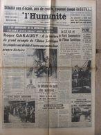 Journal L'Humanité (4 Nov 1963) Emmurés De Peine - Pilonnage De Béni-Ounif - A Broves - 1950 - Oggi