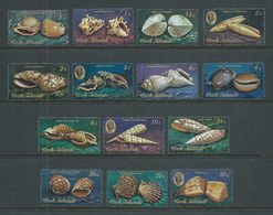 Cook Islands 1974 Shell Definitives Short Set Of 14 To 30c MNH - Cook Islands