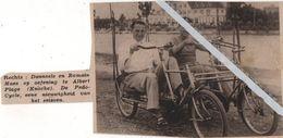 KNOCKE..1936.. DANEELS EN ROMAIN MAES OEFENING OP DE ALBERT PLAGE TE KNOCKE - Vecchi Documenti