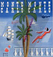 06- MONTE CARLO- HOTEL DU BEACH-HOTEL DE PARIS-ECOLE SKI NAUTIQUE-GOLF MONT AGEL-COURSE AUTOS-RARE DEPLIANT ANNEES 50 - Toeristische Brochures