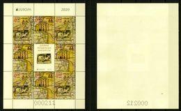 Europa CEPT 2020 BULGARIA Ancient Postal Routes - Fine Sheet (NFV) MNH - Bulgaria