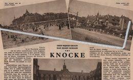 KNOCKE..1934.. GEEN RIJKER KROON DAN EIGEN SCHOON. - Vecchi Documenti