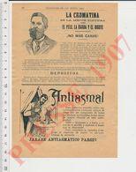 2 Scans Publicité Antiasmal (Fumigation Asthme) Antiasthmatique La Cromatina (Teinture Barbe) Bauer Y Black LumbagoCHV40 - Vecchi Documenti