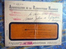 LETTRE ADMINISTRATION DE LA RADIODIFFUSION NATIONALE REGION RADIOPHONIQUE DE RENNES REPUBLIQUE FRANCAISE FRANCHISE - Marcophilie (Lettres)