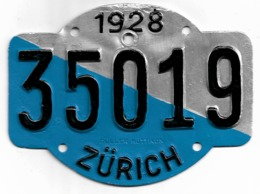 Velonummer Zürich ZH 28 - Number Plates