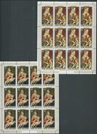 Cook Islands 1978 Christmas Paintings Set Of 3 In Fresh Full Margin Sheets Of 12 MNH - Cook Islands