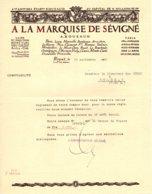 """ROUZAUD  Chocolats """"A La Marquise De Sévigné""""   ROYAT  63  Belle Illustration - France"""