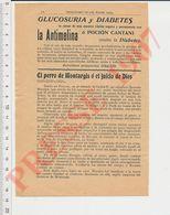 2 Scans Publicité La Antimelina Contra La Diabetes Légende Aubry De Mondidier Chien Montargis Chevalier Macaire CHV40 - Vecchi Documenti