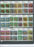 Cook Islands 1984 Marine Life Coral Forms Definitives Short Set Of 15 To 48c MNH Marginal Blocks Of 4 With Inscription - Cook Islands