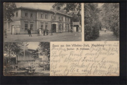 DG1006 - MAGDEBURG - WILHELMS PARK - MULTI PIC POSTCARD - Magdeburg