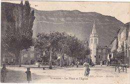 Hautes Alpes : LARAGNE : La Place De L'église : ( Animée ) - France