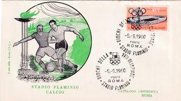 Italy 1960 Cover; Football Fussball Soccer; Olympic Games Rome Stadio Flaminio Stadium; - Football