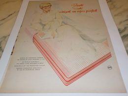 ANCIENNE PUBLICITE MATELAS LATEX DUNLOPILLO 1958 - Autres