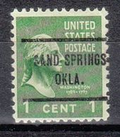 USA Precancel Vorausentwertung Preo, Locals Oklahoma, Sand Springs 713 - United States