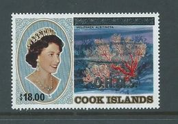 Cook Islands 1990 $18 & Official Surcharge On $10 Coral Definitive MNH - Cook Islands