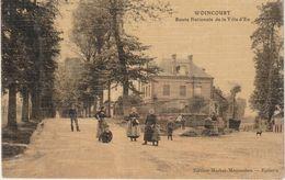 WOINCOURT 80 Route Nationale Animée Gros Plan Maison 1910 ? - Other Municipalities