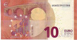 10 Euros 2014 Serie UE , U002B6 Signature Mario Draghi UNC  N° UE 6023923388 - EURO