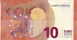 10 Euros 2014 Serie UE , U001D6 Signature Mario Draghi UNC  N° UE 8017399754 - EURO