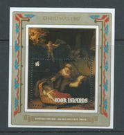 Cook Islands 1987 Christmas Rembrandt Painting Miniature Sheet MNH - Cook Islands