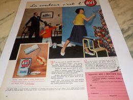 ANCIENNE PUBLICITE PEINTURE LA COULEUR C EST L AVI 1958 - Autres