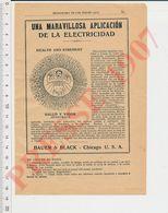 2 Scans Publicité Salud Y Vigor Bauer & Black Chicago (Application Médicale électricité) + Digestivo Mojarrieta CHV40 - Vecchi Documenti