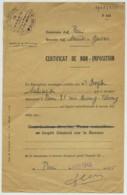Paris . Quartier De Saint-Gervais . Certificat De Non-imposition Sur Le Revenu à Salomon Bogler. 20 Mars 1945 . Judaïca - Vecchi Documenti