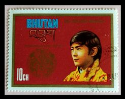 110. BHUTAN (10CH) 1974 USED STAMP CORONATION. - Bhoutan