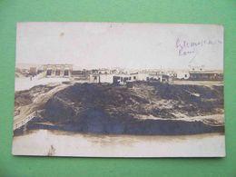 BAKU 1909 Dam, A Working Settlement By The Sea. RARE Russian Photo Postcard To Łódź Bank. - Azerbaïjan