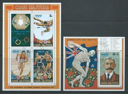 Cook Islands 1972 Munich Olympic Games Sheet Of 4 & Miniature Sheet Fine CTO - Cook Islands