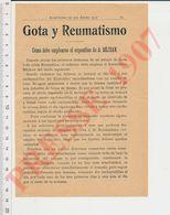 2 Scans Publicité Spécifique Béjean Vs Rhumatismes Especifico Gota Y Reumatismo CHV40 - Vecchi Documenti