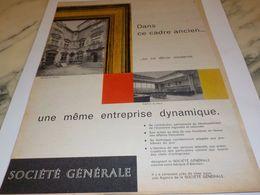 ANCIENNE PUBLICITE DANS CE CADRE ANCIEN SOCIETE GENERALE 1959 - Autres