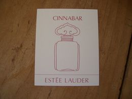 Carte Lauder Cinnabar Suisse - Cartes Parfumées