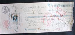 LetDoc. 498. Mandat. 25c Bleu Grosse Barbe N°76 Bruxelles Effets De Commerce 1907 - 1905 Thick Beard