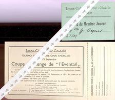 NAMUR  Tennis Citadelle  1927 - Vecchi Documenti