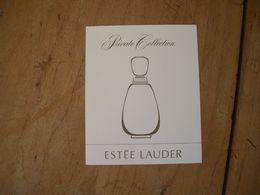 Carte Lauder Private Collection Suisse - Cartes Parfumées